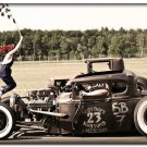 Hot Rod Custom Roadsters Classic Muscle Cars Poster 32x24