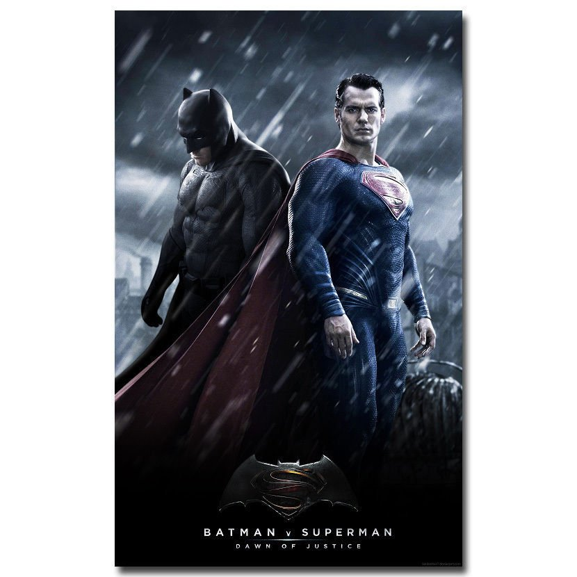 Batman Vs Superman Movie Art Wall Poster Dawn Of Justice 32x24