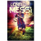 Lionel Messi Barcelona Soccer Star Sport Poster Print 32x24