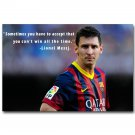 Lionel Messi Motivational Quote Barcelona Soccer Poster Print 32x24