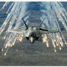 F 22 Raptor Aircraft Art Poster Military Fans Wall Decor 32x24