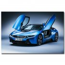 BMW I8 Blue Supercar Poster 32x24