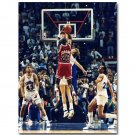 Michael Jordan The Last Shot Basketball Poster 32x24