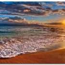 Sunset Sea Beach Art Poster Wall Pictures For Living Room 32x24