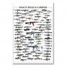 Guns Military Carbines Assault Rifle Charts Poster 32x24