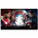 Captain America 3 Civil War Superheroes Movie Poster Print 32x24