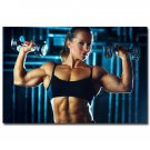 Weightlifting Bodybuilding Fitness Motivational Poster 32x24