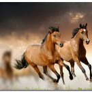 Horse Running Art Poster Animals Lanscape Pictures 32x24