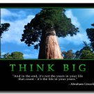 THINK Motivational Quotes Art Poster 32x24