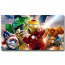 Lego Movie The Avengers Superheroes Poster Hulk Iron Man Thor 32x24
