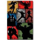 The Avengers Superheroes Movie Comic Poster Hulk Thor 32x24