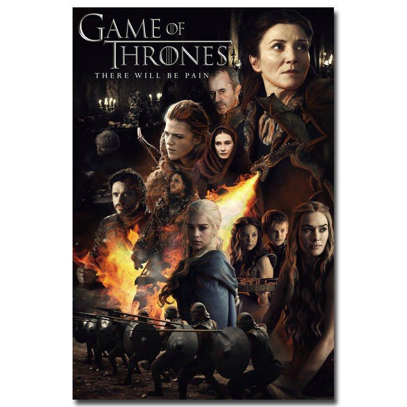 Game Of Thrones Season 5 TV Series Art Poster Daenerys 32x24