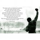Rocky Balboa Inspirational Quote Poster 32x24