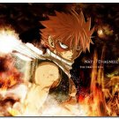 Fairy Tail Anime Art Poster The Dragon Son Natsu Dragneel 32x24