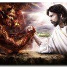 Jesus Christ VS Satan Art Poster Pictures 32x24