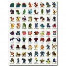 Pokemon Pocket Monsters Anime Poster Pictures Pikachu Charmander 32x24