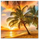 Tropical Beach Sunset Sky Nature Seascape Poster Pring Palm Tree 32x24