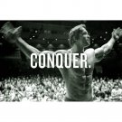 Arnold Schwarzenegger Conquer Motivational Poster Bodybuilding 32x24