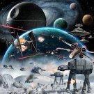 Star Wars Battlefront Games Art Poster Space War 32x24