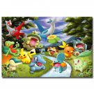 Pokemon Pikachu Playing Cards Anime Poster Pictures 32x24