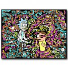 Rick And Morty Cartoon Poster Psychedelic Trippy 32x24
