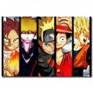 Bleach Anime Poster One Piece Naruto Dragon Ball 32x24