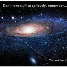 You Are Here Motivational Poster Universe Galaxy Picture 32x24