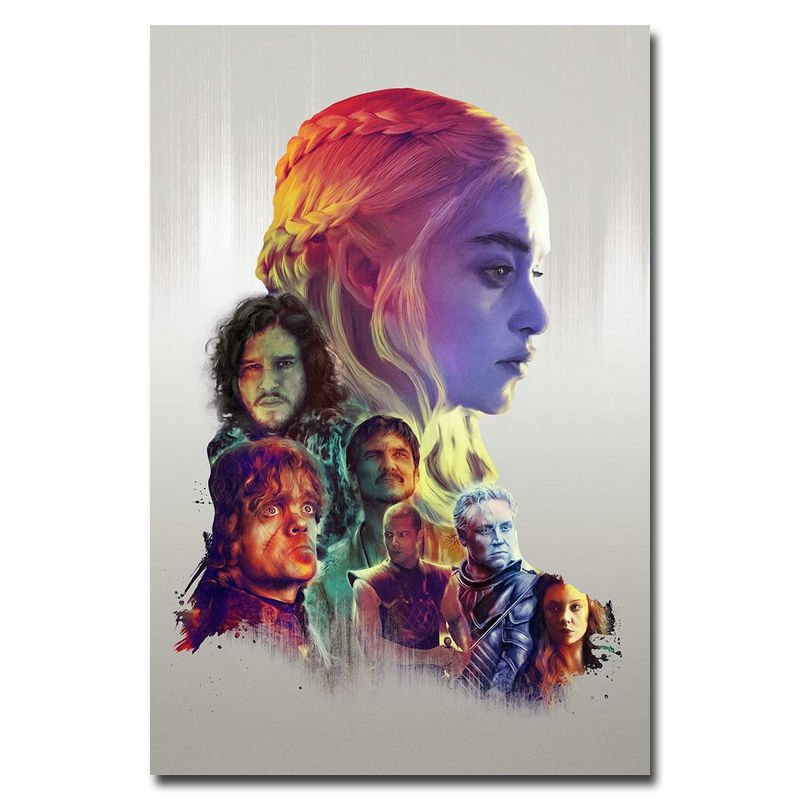 Game Of Thrones Season 6 TV Series Art Poster Wall Decor 32x24
