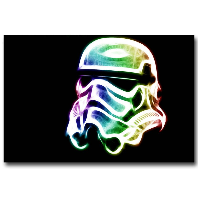 Stormtrooper Psychedelic Trippy Poster Star Wars 32x24
