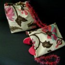 Floral Tote w/ Shaggy Drawsting Straps