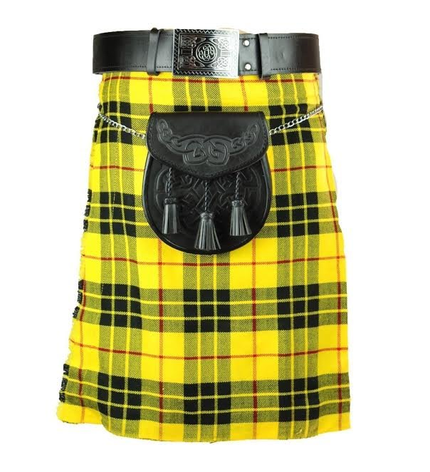 New active Handmade Scottish Highlander kilt for Men in Macleod of Lewis size30 coloure yellow