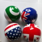 New Flag of England,Pakistan,Australia and America 156 Gm leather cricket balls pack of 4