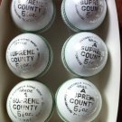 New White Supreme County Conforming to MCC Regulation leather cricket balls pack of 6 for 40 overs