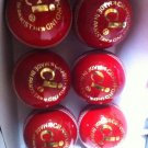 New Red CI 156 GM Conforming to MCC Regulation leather cricket balls pack of 6 for 25 overs