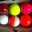 New Multi coloures 156 GM Conforming to MCC Regulation leather cricket balls pack of 6