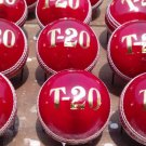 New Red T 20 156 GM Conforming to MCC Regulation leather cricket balls pack of 6 for 25 overs