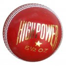 New Red High Power Pigment colour MCC Regulation leather cricket balls pack of 6 for match quality