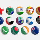 New Flag of all Cricketing countries Balls 156 GM MCC Regulation leather cricket balls pack of 6