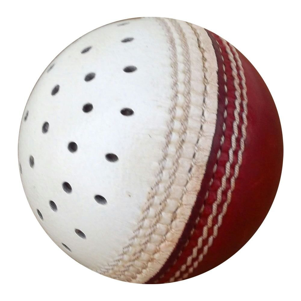 New Red & White Reverse Swing Practice Ball Conforming to MCC Regulation leather cricket ball