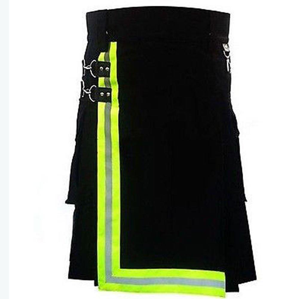 New DC Burning man Scottish Handmade Tactical Utility Cotton kilt for Men size 38