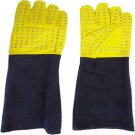 New DC 0036 Snake Catcher Gloves Heavy Duty Reptile Lizards Leather Yellow Gloves