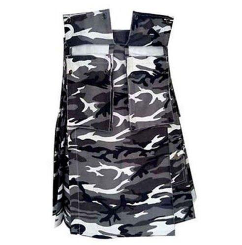 New DC handmade Scottish Highland Unisex  Camo Utility Cotton kilt for Men size 34