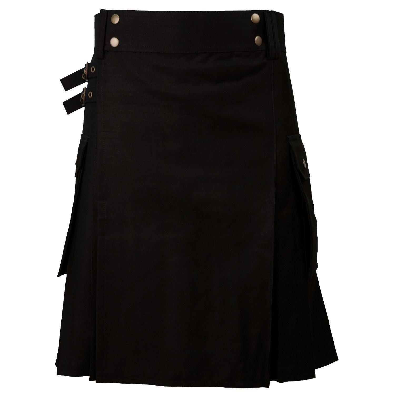 New DC stylesh Great Gift Casual Military 5 Yard Utility Black Kilt size 34