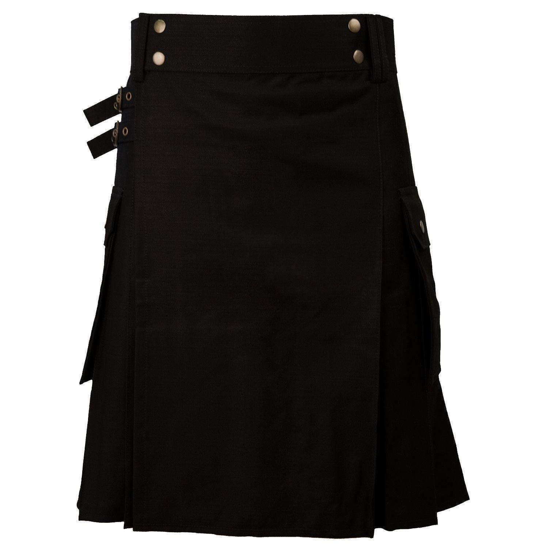 New DC stylesh Great Gift Casual Military 5 Yard Utility Black Kilt size 58