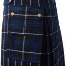 New DC active highlander  modern music Douglas utility tartan kilt size 34