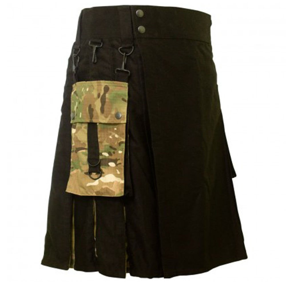 DC active men military cotton combo highlander utility kilt size 36