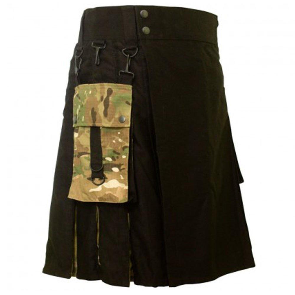 DC active men military cotton combo highlander utility kilt size 54