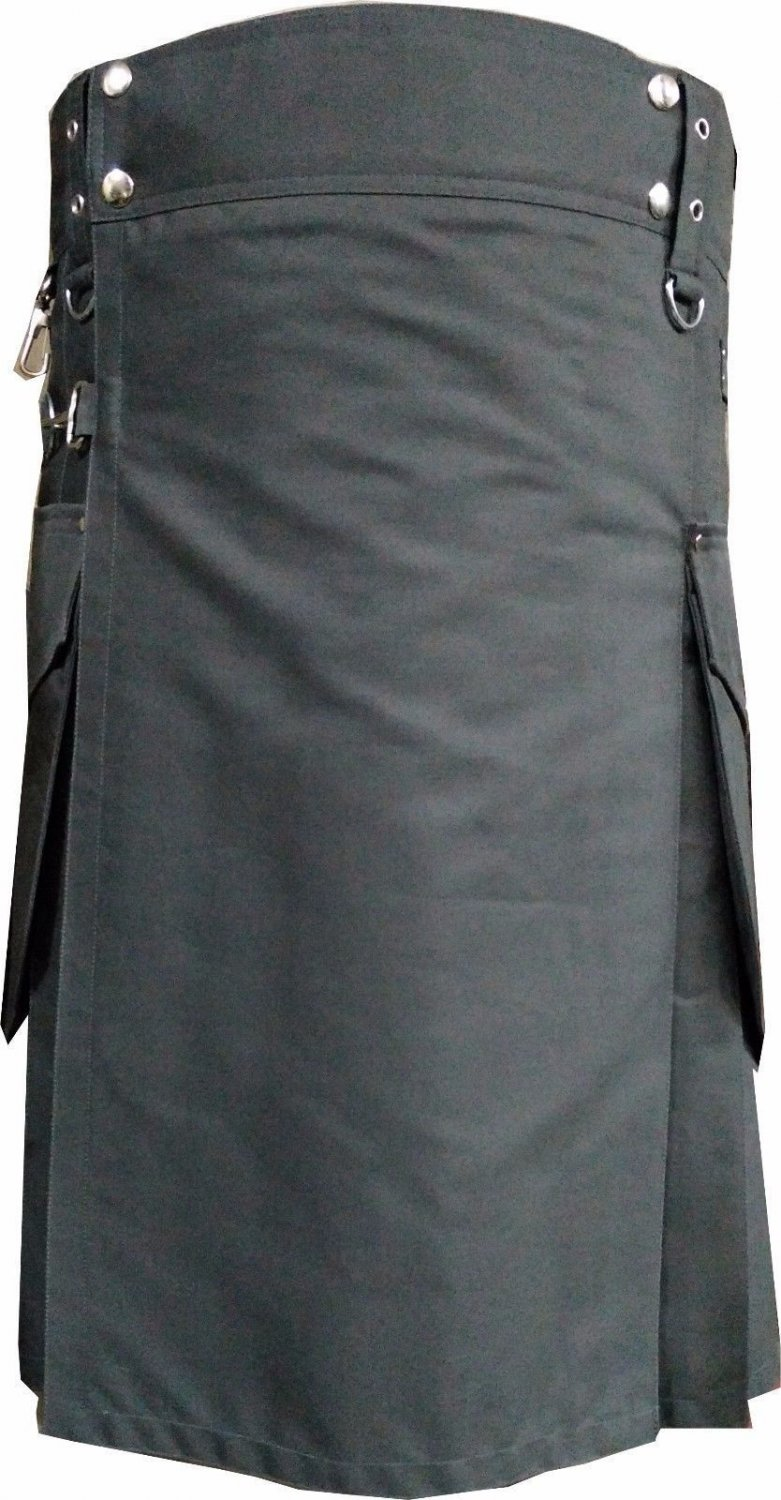 DC Scottish Active Men Utility Sports Traditional Fashion Grey Cotton kilt size 56