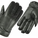 DC 005 REAL GOAT SKIN LEATHER DRIVING FASHION DRESS GLOVES SOFT & TOP QUALITY BLACK SIZE m