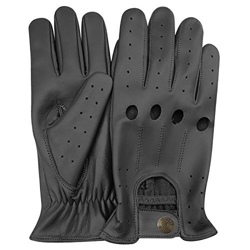DC 003 REAL LAMB SKIN LEATHER DRIVING FASHION DRESS GLOVES SOFT & TOP QUALITY BLACK SIZE XL